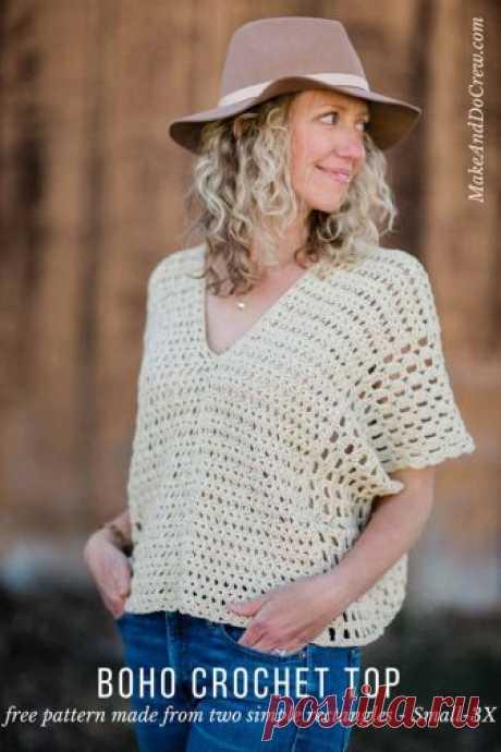 Poncho-Style Summer Crochet Top - Free Pattern! - Make & Do Crew