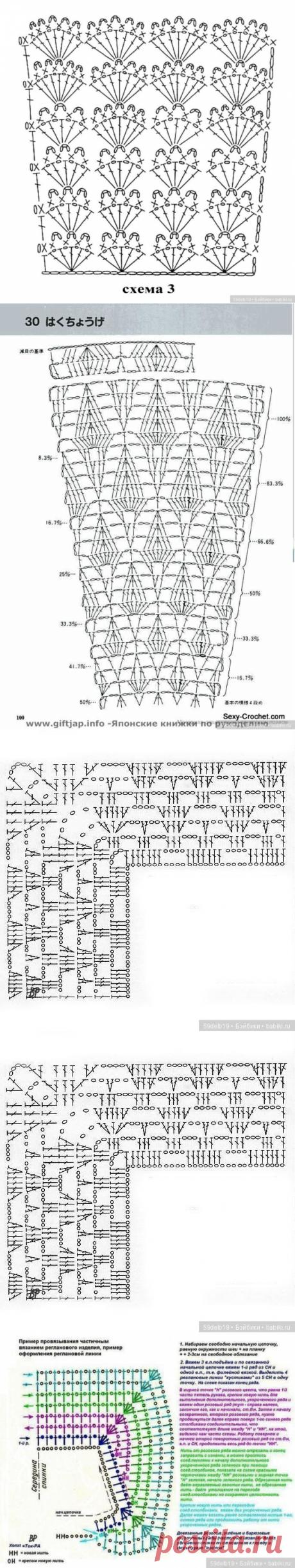 Very beautiful skhemk for knitting of short skirts (dresses) dolls \/ Knitting for dolls \/ Beybiki. Photo dolls. Clothes for dolls