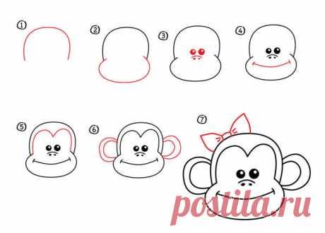 рисуем обезьяну