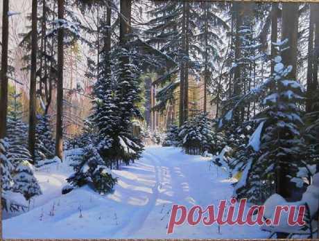 Юрий Зосич дорожка в зимнем лесу 15 000 p. Купить картину можно перейдя по ссылке-https://bit.ly/2Se8bYE ⚡Художники И ПОКУПАТЕЛИ ПРИСОЕДИНЯЙТЕСЬ К НАМ !!!⚡