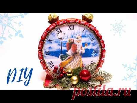 РОЖДЕСТВЕНСКИЙ ПОДАРОК своими руками / Новогодние часы / DIY Christmas gift HANDMADE
