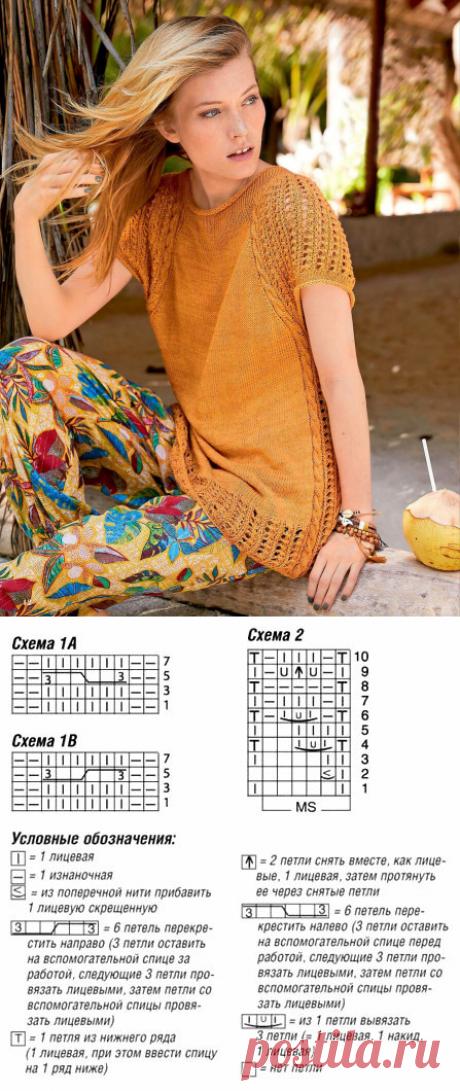 Пуловер с круглой кокеткой | Вязание спицами и крючком | Яндекс Дзен
