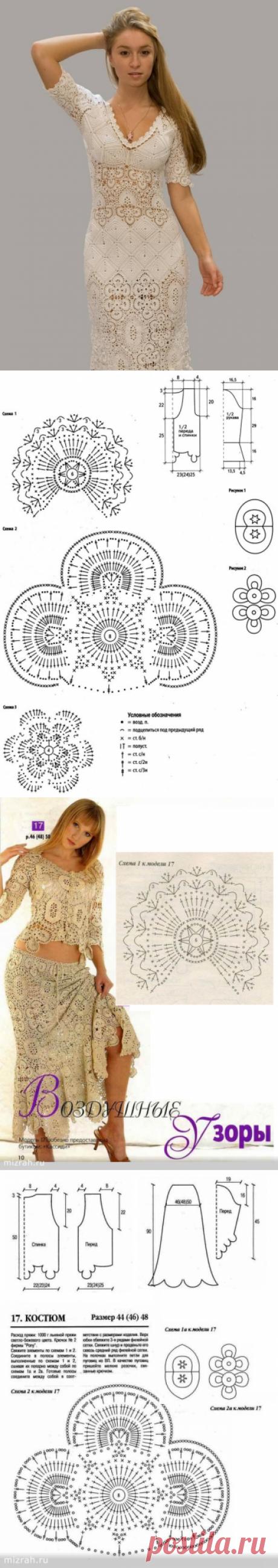 Платье в технике ирландского кружева. Ленточное кружево крючком платье |