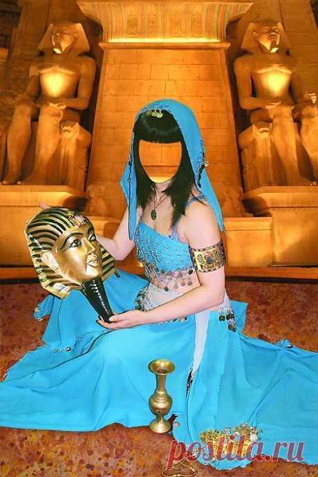 Скачать Шаблон для фото - Египетская танцовщица.