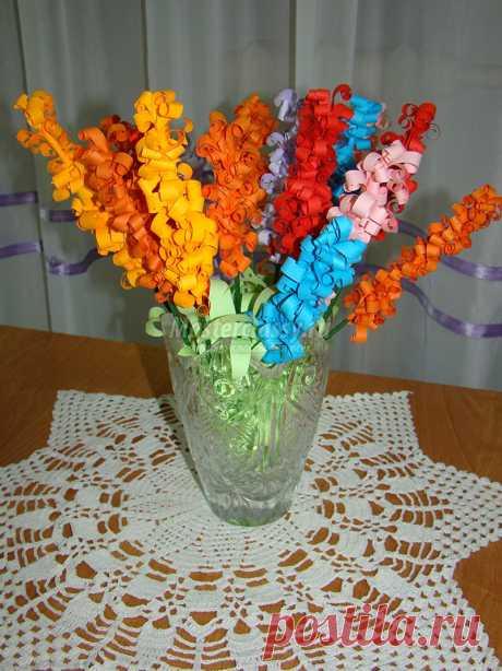 Аппликация из цветной бумаги «Гиацинт - аромат весны». Мастер-класс