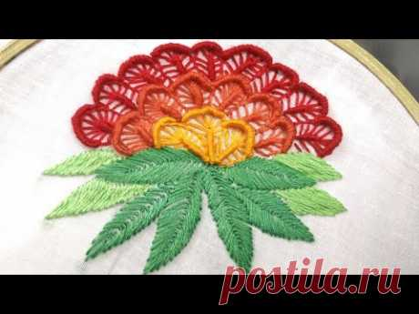 Fancy Flower Embroidery (Hand Embroidery Work)