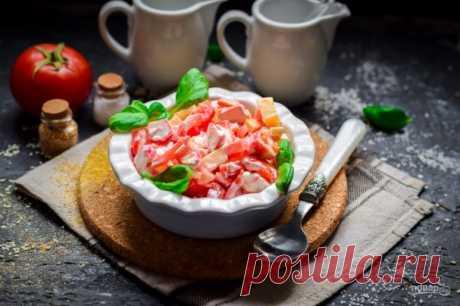 Салат из сыра, помидоров и крабовых палочек - пошаговый рецепт с фото на Повар.ру