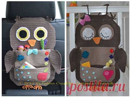 Owl Treasure Organiser pattern by Tatsiana Matsiuk This crochet pattern is for my Owl Treasure Organiser.