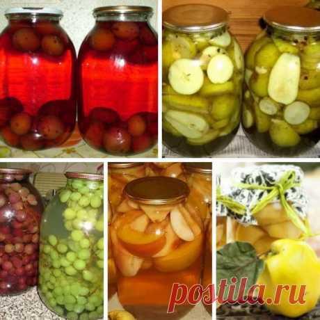 ТОП-5 САМЫХ ВКУСНЫХ КОМПОТОВ НА ЗИМУ!   1. ВАНИЛЬНЫЙ ЯБЛОЧНЫЙ КОМПОТ.   Для компота как нельзя лучше подойдут кисло-сладкие яблочки с твердой мякотью. Пряности внесут пикантную нотку в этот витаминный напиток.   Ингредиенты:   1 кг яблок,  200 г сахара,  10 г ванильного сахара,  3 бутона гвоздики,  1л воды.   Приготовление:   В кастрюлю влей воду, добавь сахар, ванильный сахар, гвоздику, вскипяти и провари до растворения сахара.  Яблоки помой, разрежь на 4-8 частей и очист...
