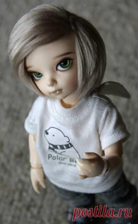 Как сделать парик для куклы. Часть 3 Фото мастер-класс по изготовлению парика с нуля из пряжи.