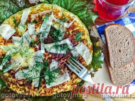 Омлет с кабачками, брокколи и зеленью. Рецепт с фото Попробуйте приготовить простой и быстрый завтрак со свежими овощами и зеленью. Лето даёт нам возможность получить максимум удовольствия и минимум калорий, а также сэкономить драгоценное утреннее время. Кабачки, шпинат, брокколи, зелень сейчас очень доступны, а яйца, сыр и молоко всегда найдутся в холодильнике. Примерно за 15 минут можно приготовить 2 порции замечательно омлета с зеленью. Приступим?