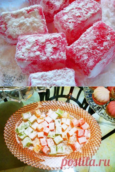 РАХАТ-ЛУКУМ. Рецепты рахат-лукум. Как готовить рахат-лукум. Восточные сладости-2