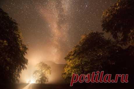 «Ночной указатель». Автор фото — Михаил Копычко: nat-geo.ru/photo/user/298331/ Добрых снов!