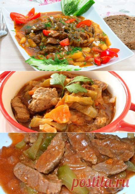 Азу по-татарски с солеными огурцами - очень вкусные рецепты блюда с разным мясом