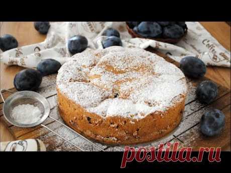 Вкусный Сливовый Пирог 🥧 Простой и Быстрый Рецепт Пирога со Сливами 🥧 - YouTube