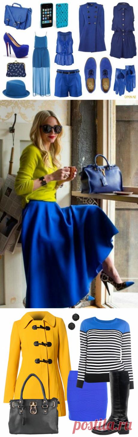 Сочетание синего — Модно / Nemodno