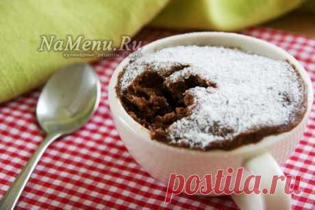 Кекс в микроволновке за 5 минут, рецепт в кружке с какао
