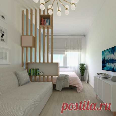 Дизайн гостиной-спальни 18 кв. м.: 65 фото интерьеров, зонирование и офрмление