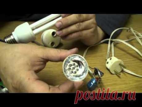 Супер экономичная светодиодная лампа на 220 вольт своими руками.