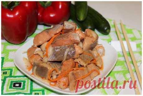 Корейский салат Хе из щуки | Охота и рыбалка