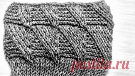 Узор для кардигана и свитера. Вязание спицами.