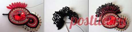 Tutoriels Bracelet en cuir ajouré avec soutache et cristaux Swarov - Perles & Co