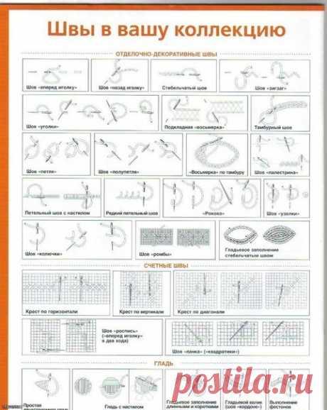 Уроки вышивки-различные швы / Необычные поделки