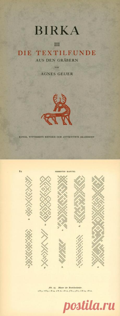 Birka III. Die Textilfunde aus den gräbern : Agnes Geijer: скачать бесплатно, заимствовать и потоковая передача : интернет архив