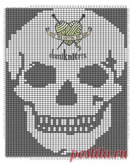 Схемы черепков крючком и спицами | SexyCrochet.COM