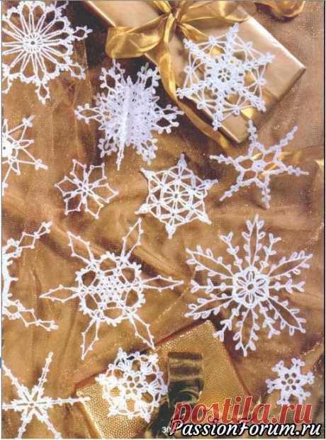 Снежинки рукотворные - вязаные - запись пользователя Елена в сообществе Вязание крючком в категории Вязаные крючком аксессуары