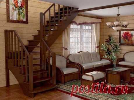 Уютная гостиная в загородном доме. А вам нравится?
