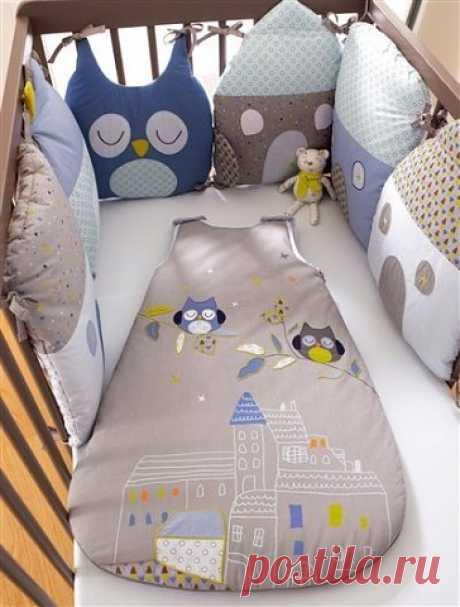 Шьем бортики-домики для детской кроватки