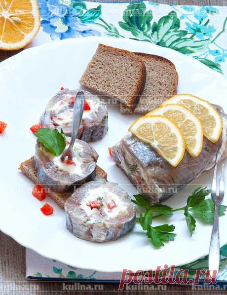 Рулет из селедки – рецепт приготовления с фото от Kulina.Ru