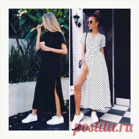 Комфорт на весь день: макси-платье с кроссовками это идеальный вариант для весны и лета | Люблю Себя
