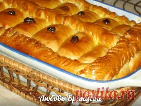 Рецепт: Дрожжевой пирог со сладкой начинкой «ТЫН»:Хлебосольные хозяйки. Рецепты домашней кухни