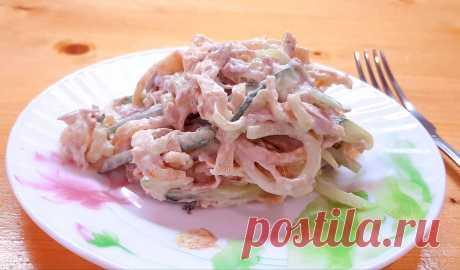 Салат с крахмальными блинчиками. | Анна Ерофеева | Яндекс Дзен