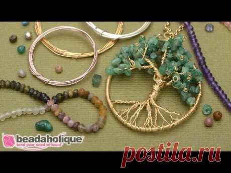 Как сделать проволоку завернутый Кулон дерево жизни