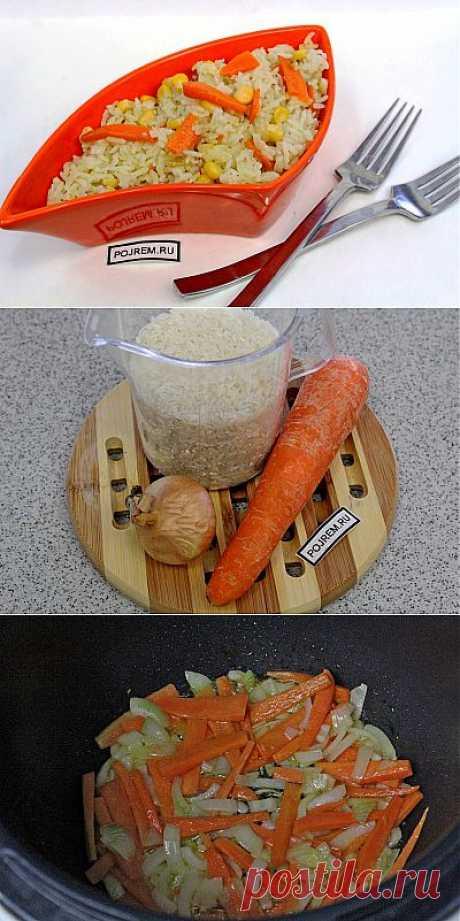 Рис с овощами в мультиварке - рецепт с фото
