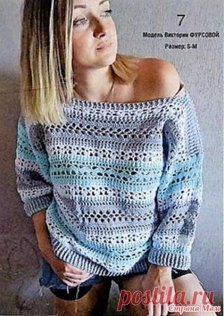 """Пуловер """"ЮНОНА"""" - Все в ажуре... (вязание крючком) - Страна Мам"""