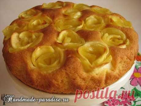 Яблочный пирог с розами - Handmade-Paradise