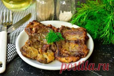 Печень говяжья в крахмале - без горечи, мягкая и сочная Печень говяжья в крахмале по данному рецепту получается без горечи, мягкой, сочной и очень вкусной. Подавать блюдо со свежими овощами или овощным салатом.