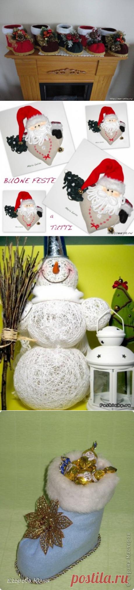 Новогодние идеи для декора , подарков, поделок все взято из интернета часть 5