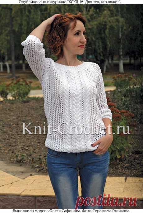 Пуловер свитшот* спицами