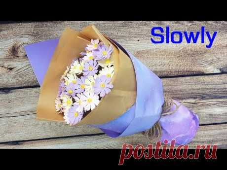 ABC TV | How To Make A Daisy Paper Flower Bouquet (Slowly) - Craft Tutorial