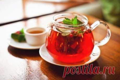 Клюквенный чай для бодрости и хорошего настроения!