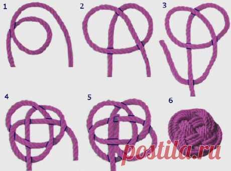 (+1) тема - Декоративная подушка-узел: сделать проще, чем кажется   РУКОДЕЛИЕ