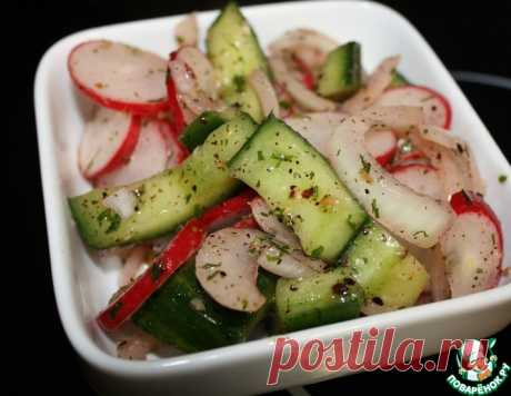 Салат из битых огурцов с редисом – кулинарный рецепт