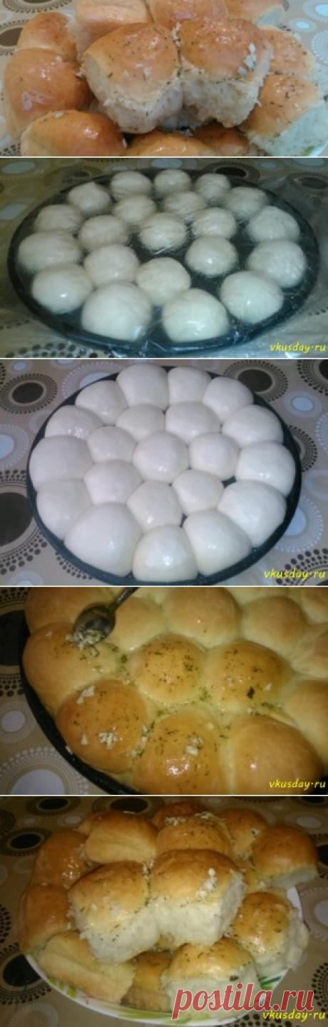 Пампушки с чесноком | Вкусный день