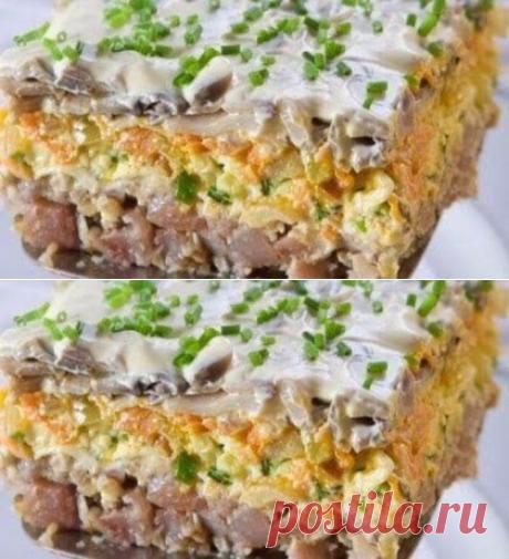 Салат с сельдью - очень вкусный - Простые рецепты Овкусе.ру