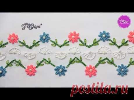 Декоративный бордюр с цветами в слитках